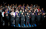 LA CROSSE, WI - MARCH 11: Official and wrestlers stood for the National Anthem before the start of the NCAA Division III Men's Wrestling Championship held at the La Crosse Center on March 11, 2017 in La Crosse, Wisconsin. (Photo by Carlos Gonzalez/NCAA Photos via Getty Images)