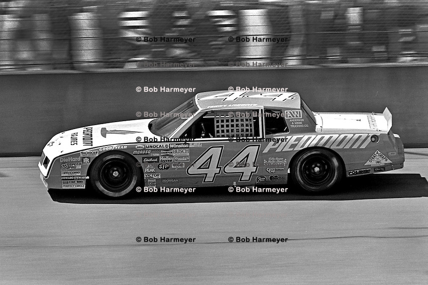 BROOKLYN, MI - AUGUST 11: Terry Labonte drives the Billy Hagan Chevrolet during the Champion Spark Plug 400 NASCAR Winston Cup race at the Michigan International Speedway near Brooklyn, Michigan, on August 11, 1985.