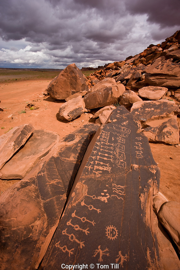 Petroglyphs on Navajo Reservation      Colorado Plateau, Arizona                    Hopi culture symbols clan symbols