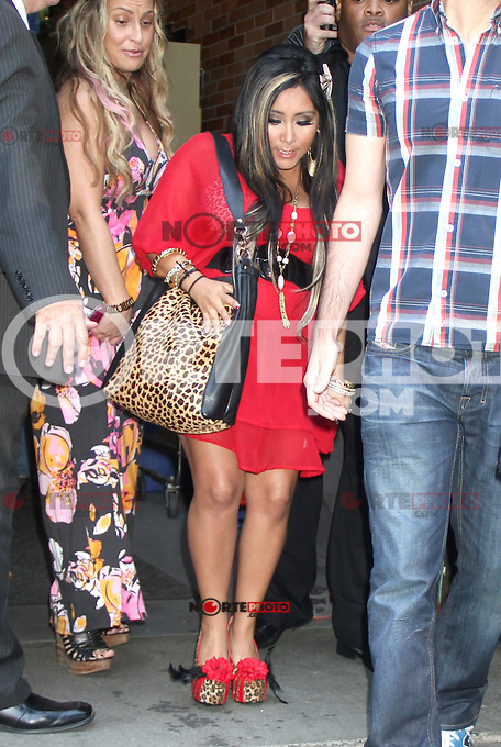 June 20, 2012: Nicole Polizzi aka Snooki at Good Morning America to talk about Jersey Shore MTV spin-off show with Snooki and JWoww in New York City. &copy; RW/MediaPunch Inc. NORTEPHOTO<br />