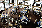 The waterfront dining room at the gourmet restaurant, X2O in Yonkers, New York. It is owned by celebrated chef Peter Kelly.