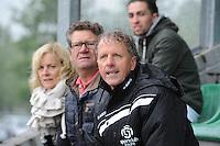 VOETBAL: JOURE: Sportpark de Hege Simmerdyk, 11-05-2014, SC Joure - VV Hoogeveen uitslag 3-3, SC Joure trainer/coach Wiep Rodenhuis werd naar de tribune gestuurd door de scheidsrechter, ©foto Martin de Jong