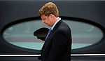 (Washington, DC, 08/29/09) Patrick Kennedy, son of Senator Ted Kennedy, stands beside the hearse carrying the body of Senator Ted Kennedy at the Senate steps of the United States Capital on  Saturday, August 29, 2009. Photo by Christopher Evans