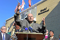 Rizwan Jaka (pictured), Chairman of the Board at the ADAMS Center, speaks at a press conference calling on President-elect Donald Trump to respect religious liberty. In the aftermath of the election and in response to the rising hate crimes against Muslims, national Christian and Jewish leaders joined their Muslim colleagues at Masjid Muhammad in Washington, D.C. on Friday, November 18, 2016 for the daily Muslim prayer service.<br /> Credit: Ron Sachs / CNP /MediaPunch