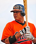 6 March 2009: Baltimore Orioles' catcher Guillermo Quiroz prepares to take batting practice prior to a Spring Training game against the Washington Nationals at Fort Lauderdale Stadium in Fort Lauderdale, Florida. The Orioles defeated the Nationals 6-2 in the Grapefruit League matchup. Mandatory Photo Credit: Ed Wolfstein Photo