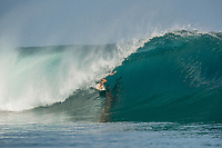 Namotu Island Resort, Nadi, Fiji (Friday, March 10 2017): Josh Ku (AUS), - The wind was light this morning,  coming out of the out of the NE.  There had been big electrical storms with lots of rain during the night with  the swell picking up to arto a solid 6' plus from the SW. Cloudbreak was the spot, with waves at Restaurants,  Lefts, Pools and Wilkes    Photo: joliphotos.com
