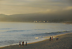 Half Moon Bay State Beach at sunset,   FB 397  faded photos for back of 5x7 postcard