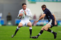 Sam Aspland-Robinson of England U20 in possession. World Rugby U20 Championship match between England U20 and Scotland U20 on June 11, 2016 at the Manchester City Academy Stadium in Manchester, England. Photo by: Patrick Khachfe / Onside Images