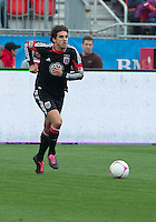 06 October 2012: D.C. United defender Dejan Jakovic #5 in action during an MLS game between D.C. United and Toronto FC at BMO Field in Toronto, Ontario..D.C. United won 1-0..