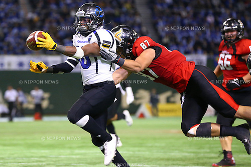 Emory Polley (),<br /> DECEMBER 14, 2015 - American Football : <br /> The 29th Japan American Football Championship<br /> &quot;Japan X Bowl 29&quot; <br /> between Panasonic Impulse 24-21 Fujitsu Frontiers <br /> at Tokyo Dome, Tokyo, Japan. <br /> (Photo by Shingo Ito/AFLO SPORT)
