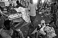 Port Au Prince, Haiti, Jan 23 2010.Most Port au Prince inhabitants are forced to live in the streets, for fear of more aftershocks or simply because they have nowhere else to go..