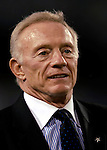8 October 2007:  Dallas Cowboys team owner Jerry Jones watches pre-game warm ups prior to a game against the Buffalo Bills at Ralph Wilson Stadium in Buffalo, New York. The Cowboys defeated the Bills 25-24 for their fifth consecutive win of the season...Mandatory Photo Credit: Ed Wolfstein Photo