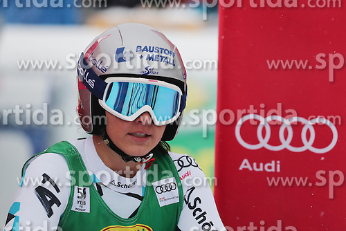 04.12.2016, Lake Louise, USA, FIS Weltcup Ski Alpin, Lake Louise, Super G, Damen, im Bild Stephanie Venier (AUT) // Stephanie Venier of Austria reacts after her run of the women's SuperG of the Lake Louise FIS Ski Alpine World Cup at the Lake Louise, United Staates on 2016/12/04. EXPA Pictures &copy; 2016, PhotoCredit: EXPA/ SM<br /> <br /> *****ATTENTION - OUT of GER*****