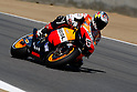 July 24, 2010 - Laguna Seca, USA - Italian rider Andrea Dovizioso (Repsol Honda team) takes a cuve during a free practice prior to the U.S. Grand Prix held on July 25, 2010. (Photo Andrew Northcott/Nippon News)