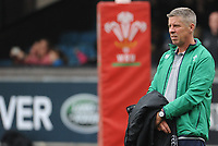 Ireland&rsquo;s Director of Rugby Anthony Eddy during the pre match warm up<br /> <br /> Photographer Ian Cook/CameraSport<br /> <br /> Women's Six Nations Round 4 - Wales Women v Ireland Women - Saturday 11th March 2017 - Cardiff Arms Park - Cardiff<br /> <br /> World Copyright &copy; 2017 CameraSport. All rights reserved. 43 Linden Ave. Countesthorpe. Leicester. England. LE8 5PG - Tel: +44 (0) 116 277 4147 - admin@camerasport.com - www.camerasport.com
