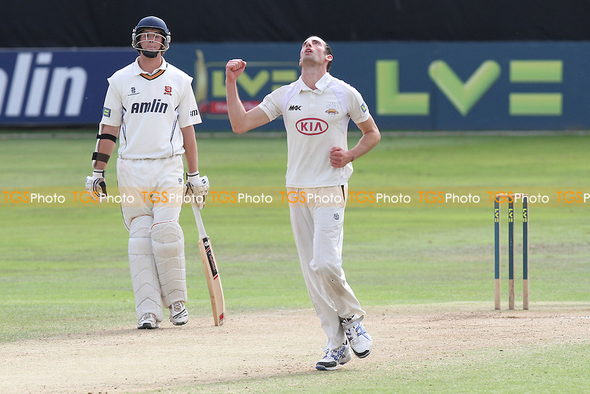 Tim Linley of Surrey celebrates the wicket of Tom Westley - Essex CCC vs Surrey CCC - LV County Championship Division Two Cricket at The Ford County Ground, Chelmsford, Essex - 09/09/11 - MANDATORY CREDIT: Gavin Ellis/TGSPHOTO - Self billing applies where appropriate - 0845 094 6026 - contact@tgsphoto.co.uk - NO UNPAID USE