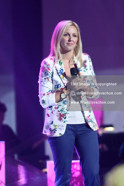 Veronique Cloutier performs during the Telethon Enfant Soleil in Quebec City Sunday June 3, 2012.