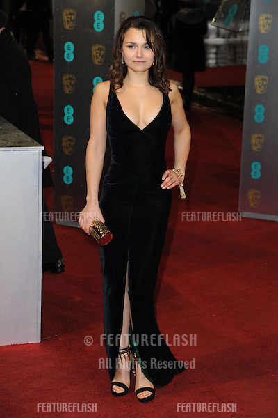 Samantha Barks arriving for the EE BAFTA Film Awards 2013 at the Royal Opera House, Covent Garden, London. 10/02/2013 Picture by: Steve Vas / Featureflash