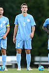21 September 2012: UNC's Jonathan Campbell. The University of North Carolina Tar Heels defeated the University of Virginia Cavaliers 1-0 at Fetzer Field in Chapel Hill, North Carolina in a 2012 NCAA Division I Men's Soccer game.