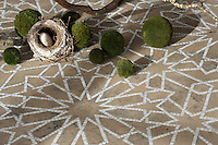 Castilla, a handmade mosaic shown in honed Jura Grey and polished Calacatta Tia  is part of the Miraflores Collection by Paul Schatz for New Ravenna.<br />