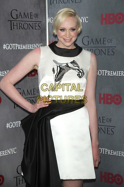 NEW YORK, NY - MARCH 18: Gwendoline Christie at the 'Game Of Thrones' Season 4 New York premiere at Avery Fisher Hall, Lincoln Center on March 18, 2014 in New York City.  <br /> CAP/MPI/RW<br /> &copy;RW/MPI/Capital Pictures