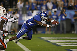 UK wide receiver Randall Cobb dives for a touchdown against Auburn in the second half at Commonwealth Stadium on Saturday, Oct. 9, 2010. Photo by Scott Hannigan | Staff