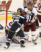 Nicole Gifford (UNH - 16), Blake Bolden (BC - 10) - The Boston College Eagles and the visiting University of New Hampshire Wildcats played to a scoreless tie in BC's senior game on Saturday, February 19, 2011, at Conte Forum in Chestnut Hill, Massachusetts.