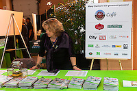 Welcome table with sponsors board at FoodShare Toronto's Recipe for Change, February 28,  2013