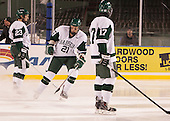 Troy Starrett (Babson - 21) - The Norwich University Cadets defeated the Babson College Beavers 1-0 on Thursday, January 9, 2014, at Fenway Park in Boston, Massachusetts.