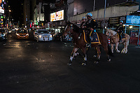 NY, NEW YORK, NOVEMBER 8: Police presence in Times Square during the election night in New York on November 8, 2016.Photo by VIEWpress/Maite H. Mateo.