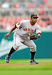 1 May 2011: San Francisco Giants infielder Miguel Tejada in action against the Washington Nationals at Nationals Park in Washington, District of Columbia. The Nationals defeated the Giants 5-2. Mandatory Credit: Ed Wolfstein Photo