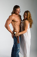 Western cowboy and woman themed Romance Novel cover stock photographs by Jenn LeBlanc for Illustrated Romance