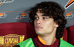 Calcio, Serie A: Roma vs Palermo. Roma, stadio Olimpico, 4 novembre 2012..AS Roma defender Dodo', of Brazil, sits on the bench during the Italian Serie A football match between AS Roma and Palermo, at Rome's Olympic stadium, 4 november 2012..UPDATE IMAGES PRESS/Riccardo De Luca