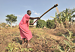 Esther Muriba prepares her ground for planting in the Southern Sudan village of Ligitolo. Families here are rebuilding their lives after returning from refuge in Uganda in 2006 following the 2005 Comprehensive Peace Agreement between the north and south.