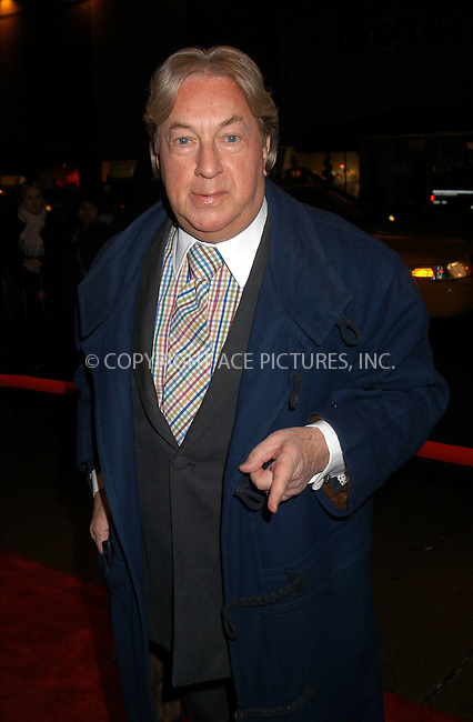 Arnold Scassi arrives at the special screening of TNT's 'The Goodbye Girl' in New York City. January 12 2004. Please byline: AJ SOKALNER/NY Photo Press.   ..*PAY-PER-USE*      ....NY Photo Press:  ..phone (646) 267-6913;   ..e-mail: info@nyphotopress.com