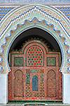 Entrance door of the Karaouine mosque in Fès, Morocco.