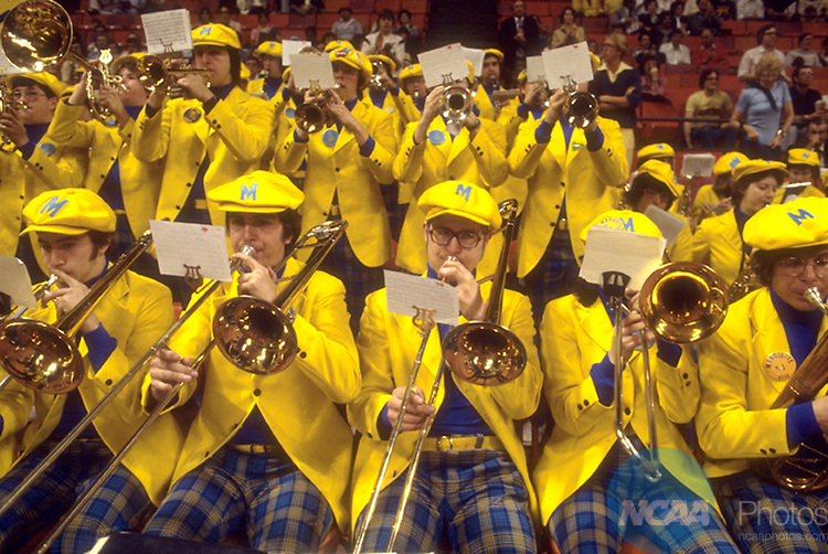 28 MAR 1977:  Marquette band during the NCAA Men's National Basketball Final Four championship game held in Atlanta, GA at the Omni. Marquette defeated North Carolina 67-59 for the title. Photo by Rich Clarkson/NCAA PhotosSI CD1646-36