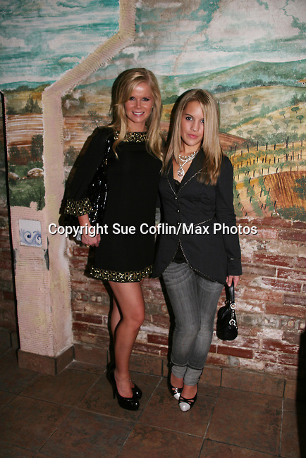 Crystal Hunt and Kristen Alderson - One Life To Live at the Fame-Wall World Premiere Launch Party and Inaugural Portrait Unveiling Honoring John Stamos currently starring in Broadway's Bye, Bye Birdie on September 10, 2009 at Trattoria Dopo Teatro, NYC - now Home of New Fame-Wall, NYC. Fame-Wall salutes those who have inspired people and made a significant impact through the world of art and entertainment. (Photo by Sue Coflin/Max Photos)