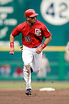 21 May 2006: Royce Clayton, shortstop for the Washington Nationals, makes his way to third during a game against the Baltimore Orioles at RFK Stadium in Washington, DC. The Nationals defeated the Orioles 3-1 to take 2 of 3 games in their first inter-league series...Mandatory Photo Credit: Ed Wolfstein Photo..