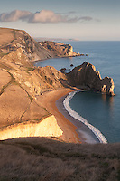 Durdle Door on the Jurassic Coast World Heritage Site in West Lulworth, Dorset, UK.