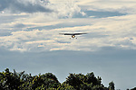 Gaston Ntambo, a United Methodist missionary, pilots a Cessna P210 on approach to the airstrip in Kamina in the Democratic Republic of the Congo. Ntambo and the plane are part of the Wings of the Morning aviation ministry of The United Methodist Church, and provide life-saving access to isolated rural communities.