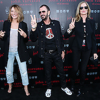 WEST HOLLYWOOD, CA, USA - SEPTEMBER 21: Madchen Amick, Ringo Starr, Barbara Bach arrive at the John Varvatos #PeaceRocks Ringo Starr Private Concert held at the John Varvatos Boutique on September 21, 2014 in West Hollywood, California, United States. (Photo by Xavier Collin/Celebrity Monitor)