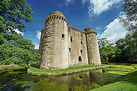 Nunney Castle built in the 1370s by Sir John de la Mere, Somerset, England