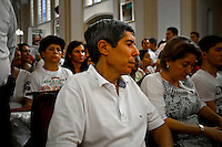 Family, Relatives and political members attend a mass during the process to receive a group of 10 hostages held for more than 12 years release by FARC members in Villavicencio, Colombia. 27/03/2012.  Photo by Nestor Silva / VIEWpress.