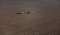Planting Tomatoes; Southern Florida Agriculture Aerial