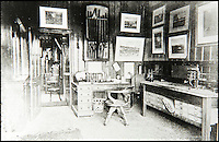 BNPS.co.uk (01202 558833)<br /> Pic: JanJarvis/BNPS<br /> <br /> Former owner Mr Griffith's private office and chronograph room back in the 1860's.<br />  <br /> A lot of bang for your buck...<br /> <br /> A former royal hunting lodge that went on to become a world-renowned gunpowder factory has exploded onto the property market.<br /> <br /> Eyeworth Lodge, in the picturesque surroundings of Fritham in the New Forest, was the perfect isolated place for the risky business that saw lots of men injured or even killed, but it is now a stunning country home for anyone who wants to escape to the country.<br /> <br /> The seven-bedroom home, which has eight acres of land, is on the market with Strutt &amp; Parker for &pound;4million.