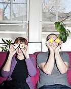 March 8, 2010. Raleigh, North Carolina.. Carrie Nickerson and David Menestres of Crum, a custom bakery in Raleigh..