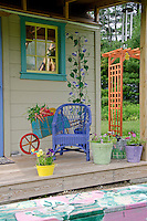 Garden shed and teaching room for Childrens garden in Yarmouth Community Garden, Maine