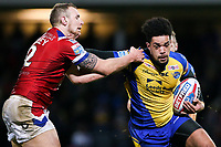 Picture by Alex Whitehead/SWpix.com - 17/03/2017 - Rugby League - Betfred Super League - Leeds Rhinos v Wakefield Trinity - Headingley Carnegie Stadium, Leeds, England - Leeds' Josh Walters is tackled by Wakefield's Dean Hadley.