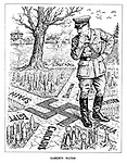 Garden Paths. (Hitler ponders which direction his Nazi road map will take him as he splits resouces on several fronts to Britain, Sweden, Russia, Caucasus, Egypt and Spain)